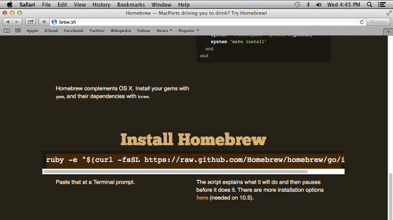 install homebrew