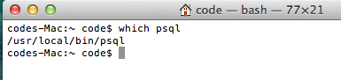 which psql